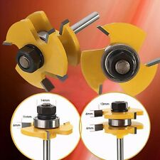 """2pcs Tongue Groove Router Bit Set 3/4"""" Stock 1/4"""" Shank For Woodworking Tools"""
