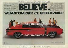 1971 VH VALIANT CHARGER R/T CHRYSLER A3 POSTER AD ADVERT ADVERTISEMENT BROCHURE