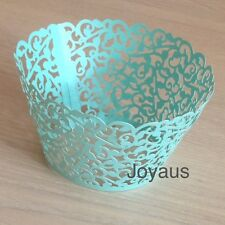 30x Tiffany Vine laser cut cupcake wrapper wedding party cake decoration favours
