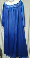 VALENTINE BLUE ANKLE LENGTH  NIGHTGOWN 3/4 SLEEVE    SIZE 2X NIP