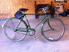 """Vintage Men's Green Raleigh Sports 3 spd 26"""" bicycle Nottingham New England"""
