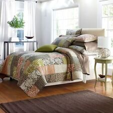 Quilt Comforter Eliza Patchwork 100% Cotton Twin Multi color The Company Store