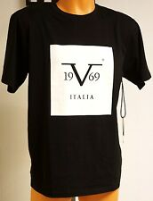 VERSACE 19.69 'V 1969 Italia' Designer T-Shirt M Blk Abbigliamento Sportivo NWT!