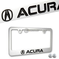 ACURA Chrome Brass Metal License Plate Frame Officially Licensed w/ Screw Caps