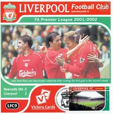Liverpool 2001-02 Newcastle (John Arne Riise) Football Stamp Victory Card #109