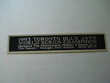 Toronto Blue Jays 1993 World Series Nameplate For A Baseball Jersey Case 1.25X6