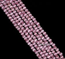 2.5MM  CAT EYE'S  GEMSTONE PINK ROUND 2.5MM LOOSE BEADS 15.5""