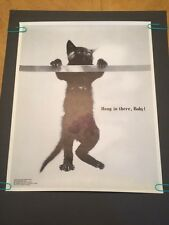 Hang In There Baby Cat Branch vintage head shop poster pin-up 1970 Universal