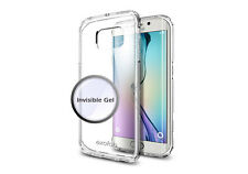Exofab - Samsung Galaxy S6 Edge Gel Clear Invisible Case Cell Phones
