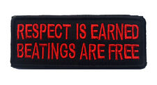 respect is earned Patches ARMY MORALE HOOK & LOOP EMBROIDERED PATCH  sh  714