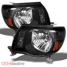 05-11 Tacoma Pickup Black Headlights Lamps Replacement sets Left+Right 2005-2011
