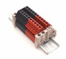 Assembly DK4N Red/Black 10 Gang DIN Rail Dinkle 10AWG 30A 600V