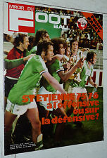 MIROIR FOOTBALL N°245 1975 POSTER AS NANCY ASNL OGCN GUILLOU LYON OL AVIGNON