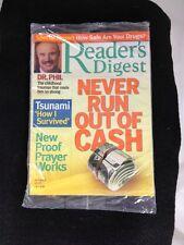 Readers Digest Dr. Phil April 2005 Mint Still In Original Plastic Bag