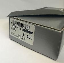 5 Boxes ABRASIVE STRIPS 70x125 Velcro Grip SHEET P1500 FLATTING PAPER