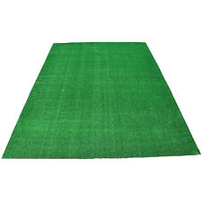 10'x10' Artificial Lawn Grass Area Rug Green Turf Square Carpet Home Pet Sports
