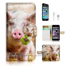 iPhone 6 (4.7') Flip Wallet Case Cover! P1777 Cute Pig