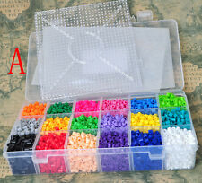 18 colors perler beads 5mm hama beads 5400pcs +square pegboards+hot paper (A)