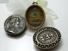 Extremly rare 1860 Relic St Vincent de Paul Sterling Silver Reliquary