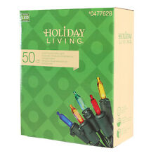 Holiday Living 50 Count Outdoor Constant Multicolor LED Solar Mini String Light