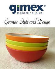 Gimex Melamin Camping Geschirr 4 Schalen Müslischalen Set Rainbow außen matt