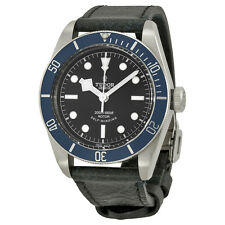 Tudor Black Bay Heritage Automatic Black Dial Brown Aged Leather Mens Watch