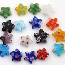 Wholesale Lots 100pcs Shining Star Millefiori Glass Craft Beads Multi-Color