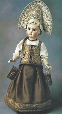 "#23""ANTIQUE RUSSIAN TRADITIONAL COSTUME/DRESS&BOOTS+18""FRENCH CORSET PATTERN"