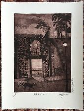 L Dieppa Intaglio Puerta De San Juan Puerto Rico 1991 Quinto Centenario