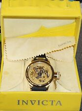 INVICTA 1243 RUSSIAN DIVER SKELETON WATCH MANUAL WIND GOLD TONE
