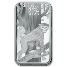 10~GRAM ~PURE .999 SILVER~ YEAR of the MONKEY ~ PAMP SUISSE ~ SEALED BAR ~$18.88