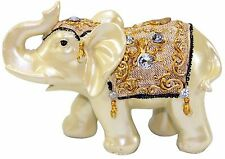 "Feng Shui 4.5""(H) Elephant Trunk Statue Lucky Wealth Figurine Gift & Home Decor"