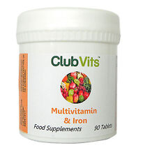 Club Vits - Multivitamin & Iron - 90 Tablets