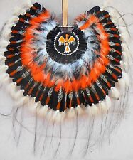 "Native American Navajo War Bonnet headdress ""THUNDERBIRD"" BUSTLE ONLY 36"" round"