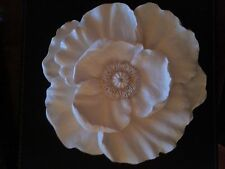 Large plaster poppy flower wall hanging decorative plaque home garden use new