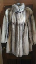 new design 100% real saga cross mink fur coat