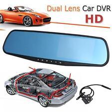 """4.3 """"HD 1080P Dual Lens Car Rétroviseur DVR Dash Cam Caméra Enregistreur Vidéo"""