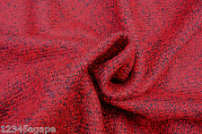 C166DELUXE FABRIC HEAVY VENETIAN RED&DARK GREY BOILED WOOL MELANGE MADE IN ITALY
