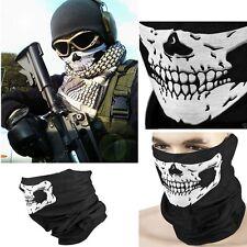 Skull Head Half Face Scarf Face UV Shield Mask Headwear Biker Neck Tube Wear