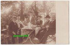 Foto Ak Personen beim Kaffe trinken in Georgsdorf bei Bad Kudowa Schlesien 1910