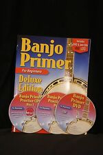 Watch and Learn Banjo Primer DELUXE Book,DVD + 2 CD combo instructional package