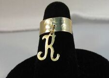 14KT GOLD EP HAMMERED DANGLE INITIAL K TOE RING