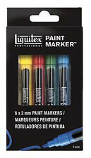 Liquitex Paint Marker Set - 6 x Fine (2mm Tips)
