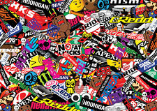 Nuevas Japonesas Stickerbomb Hoja 1.3 M X 1,5 M-Color - (Cast Wrap) euro/drift/jdm