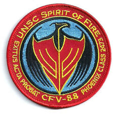 "HALO UNSC Spirit of Fire CFV-88   3.5"" Embroidered  Patch- FREE S&H (HLPA-001)"