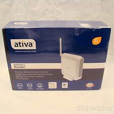 Ativa Wireless G Router 400 ft range AWGR54 NEW NIB Sealed