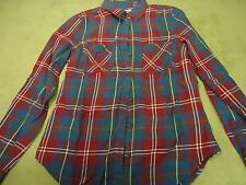 XS Old Navy long sleeve button up flannel print girls shirt top clothes used