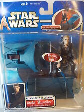HASBRO STAR WARS ATTACK OF THE CLONES  ANAKIN SKYWALKER FORCE FLIPPING - NEU/OVP