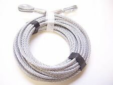 "5/16"" x 100 ft Galvanized Wire Rope Cable with Thimble Loops on Both Ends"