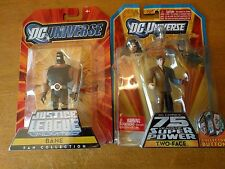 DC Universe JLU GOTHAM CITY CRIMINALS BANE EXCLUSIVE FIGURE and TWO-FACE